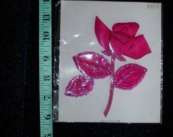 Sweet Hot Pink Flower Applique