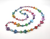 Five Rainbows Of Love Hearts Necklace