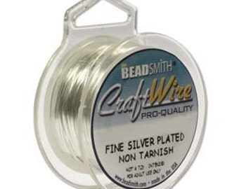 26 gauge Bead Smith Round, Fine Silver Plate, Craft Wire, 45 feet, Non- tarnishing