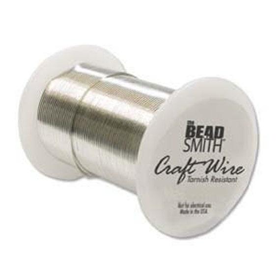 24 gauge Silver Craft Wire Bead Smith Round   90 feet