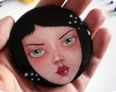 Freckles - Wearable Art Brooch