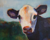 moo. , original acrylic on canvas