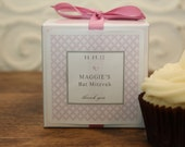 Personalized Bridal Shower Favor, Baby Shower Favor, Wedding Favor  - Cupcake Mix - with Lilac Metro Label - set of 12