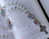 Crystal Quartz Anglican Rosary with Sterling Silver Celtic Cross