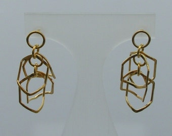 Hexagon vermeil Earrings