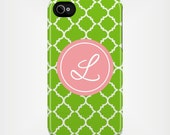 Personalized iPhone 5 Case 4 / 4S or 3G or Samsung - Quatrefoil - Custom Designed Cover - original design by a drop of golden sun