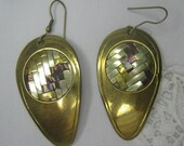 Basket Weave Earrings  -- Free Shipping