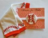 Crochet Baby girl Baseball Headband and Baseball Leg Warmers