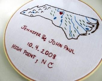 Personalized Couple Wedding Location Map Art. Wedding Gift Personalized. Anniversary Gift. Gift for Wife. Wedding Location Map.