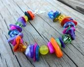 Multicolor MOP and Crystal Bracelet