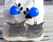 Blue Wildcat Earrings