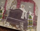 Caudle Lecture Stereograph Card - Man out all night