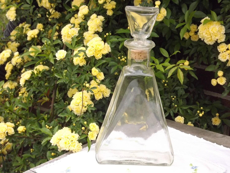 Retro Liquor Bottle Clear Glass Decanter