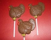 Chocolate Turkey Lollipops