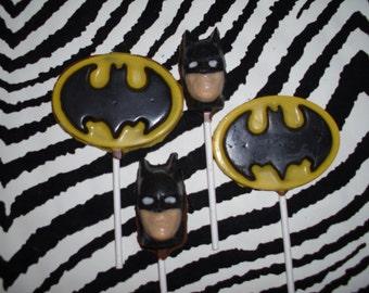 Chocolate Batman Lollipops