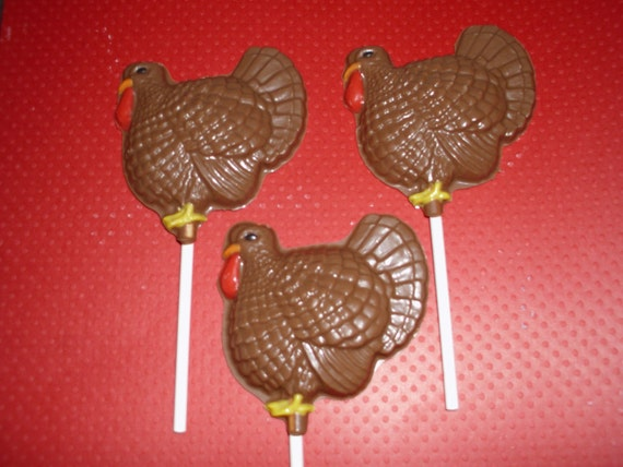 Chocolate Turkey Lollipops