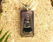 Encaustic Zen Rock Tower Pendant