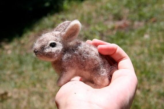 Needle-felted rabbits