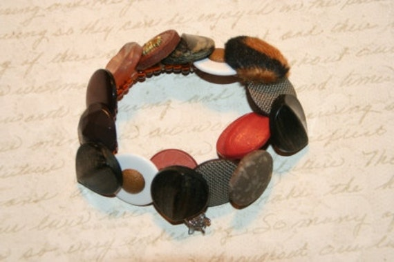 Clay Bed Button Bracelet - Proceeds Benefit Cancer Research