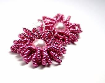Beadwoven Earring Tutorial PDF- Chrysanthemum Earrings