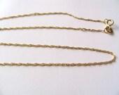 FREE SHIPPING 1 pcs Ultra light 10k Gold Rope Chain