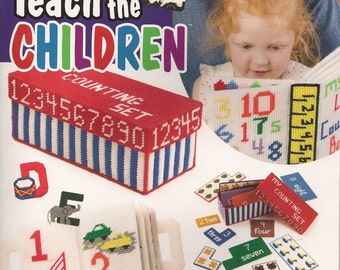 Teach the Children Plastic Canvas Book
