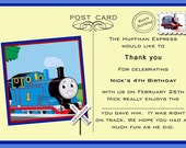 Thomas the Train Thank You Postcard