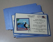 RESERVED FOR Lezlie Herm: Thomas the Train Thank You Postcard