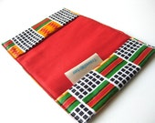 African geometric dutch wax travel wallet for passport African squares
