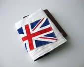 British Union Jack Passport cover travel wallet Uk England silk