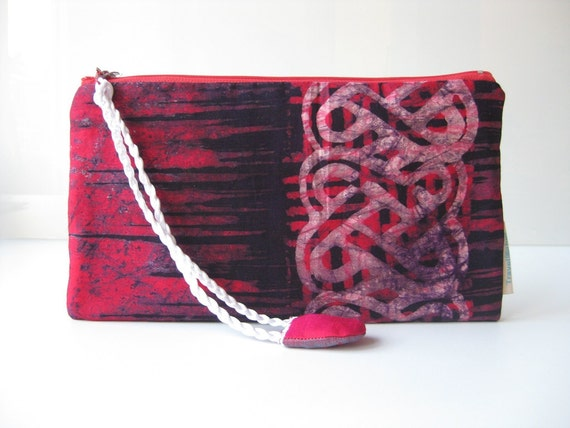 Travel wallet Travel pouch African travel gift. Red travel pouch. Family travel wallet. Red Ghana