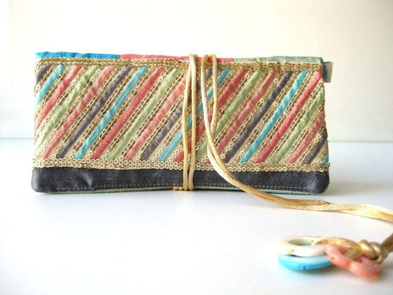 Jewelry pouch. jewelry roll. jewelry travel roll. silk jewelry roll. jewelry travel roll. pastel spring colors.