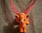 Pokemon Vulpix Pink Silk Necklace