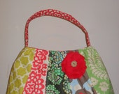 The Annie--Large quilted purse with Amy Butler fabric