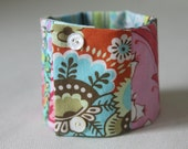Patchwork Cuff Bracelet Scrap Basket No. 2