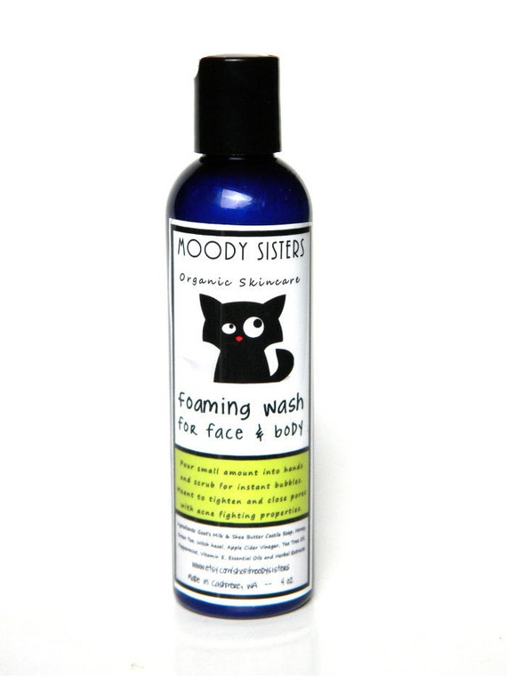 Organic Acne Face Wash for Normal to Oily Skin infused with our Acne Treatment--Vegan & Natural-- Mint facial cleanser