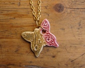 Fall-in-love Butterfly Pottery Necklace