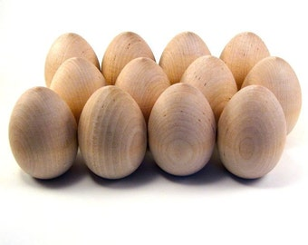 Dozen Wood Easter Eggs, Large - Decorate it Yourself