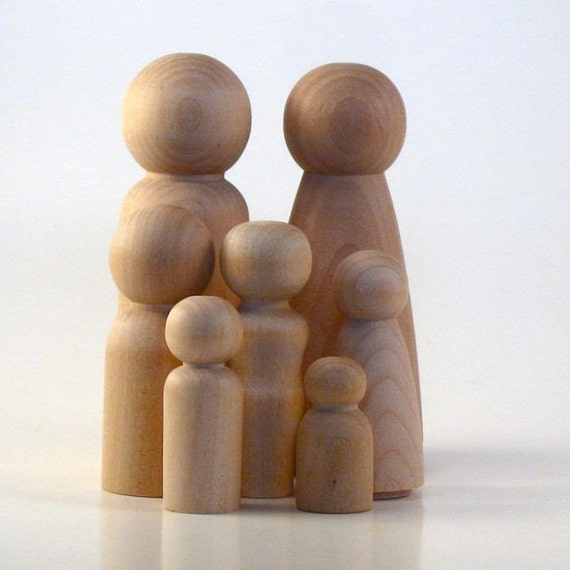 Large Family - Paint Your Own Wood Dolls