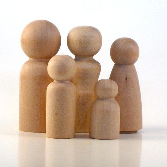 Japanese Wood Craft Dolls