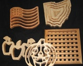 Set of 3 trivets: your choice All Ohio hardwoods