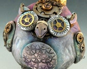 Steampunk Vintage Style Owl Ornament/ Free Shipping