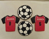 Soccer Balls and Jersey Cookies