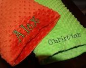 Custom Personalized Monogrammed Travel Minky Pillowcase