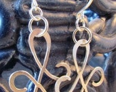 Figure 8 Forged by Hand Earrings and Hooks, Sterling Silver