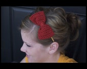 Bow Headband 2- You pick color