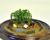 The Sanctuary - Miniature Garden - 4 inch Diorama - Decorative Terrarium