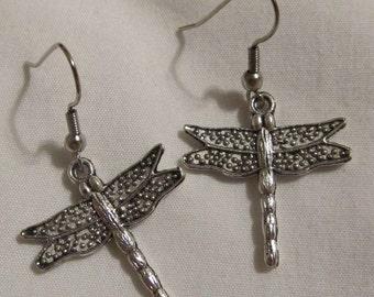 "Earrings - Handmade Charming ""Simplicity Dragonfly"""