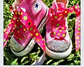 Baby Infant Toddler Youth Converse Bling and Pink Fun Diva Pop Princess Shoes Swarovski CUSTOM
