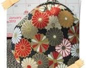 Clearance Handmade Coin Purse - Japan Kimono Chrysanthemum